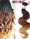 Brasilianskt hår Kroppsvågor Hårförlängning av äkta hår 1 st. 0.1