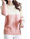 Women's Fresh Contrast Color Twist Round Collar Knitwear Sweater