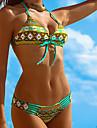 Dame Poliester Fără Întăritură Sutiene cu Bureți Cu Susținere,Bikini Floral Boho Geometric