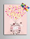 e-home® personalizate pictura de amprente panza printuri - masina de nunta (include 12 fcolors de cerneală)