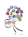 Pentru femei Broșe Floral Lux Stil Floral Draguț Petrecere Flori Modă Piete Prețioase & Cristal Placat Auriu Diamante Artificiale Aliaj