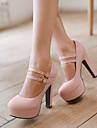 Pentru femei Pantofi Imitație de Piele Primăvară Vară Toc Stilat Platformă pentru Casual Birou și carieră Rochie Bej Mov Verde Roz