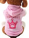 Pisici Câine Hanorace cu Glugă Îmbrăcăminte Câini Respirabil Draguț Modă Tiare & Coroane Roz Costume Pentru animale de companie