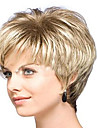 Perruque Synthetique Boucle Blond Femme Sans bonnet Perruque de carnaval Perruque Halloween Court Cheveux Synthetiques