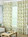 Două Panouri Tratamentul fereastră Țara Dormitor Amestec In / Bumbac Material perdele, draperii Pagina de decorare For Fereastră