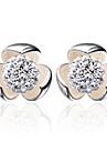 Pentru femei Cercei Stud Plastic Imitație de Perle Argintiu Floare Bijuterii Nuntă Petrecere Zilnic Casual Sport Costum de bijuterii