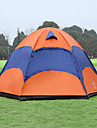Sheng yuan 3-4 personnes Tente Double Tente de camping Une piece Tente pliable Antimite Respirabilite enorme pour Randonnee Camping