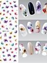 1 Vattenövergångsklistermärke Nail Smycken 3D Nail Stickers Blomma Mode Dagligen Hög kvalitet