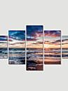 Peisaj / Modern Canvas Print Cinci Panouri Gata să stea , Orizontal