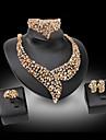 Dame Perle Diamant sintetic Lux Nuntă Petrecere Pietre sintetice Perle Ștras Placat Auriu 18K de aur Diamante Artificiale Aliaj Inele