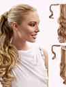 Tejpa-in Vågigt Hästsvans Syntetisk Hårstycke HÅRFÖRLÄNGNING #24 #27 #30 Blekt Blont Regnbåge