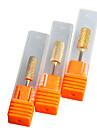 """3pcs / set 5mm """"6mm"""" 6.5mm """"file or electrique art de carbure soin des ongles perceuse outil d\'accessoires de bits pro-cylindres"""