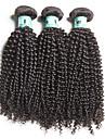 Naturligt svart kinkigt lockigt brasilianskt mänskligt hår väver hårförlängningar #kgdaily kinky curly soft