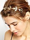Pentru femei Fete Flori De Bază Natură Elegant stil minimalist, Placat Auriu Aliaj Bandană