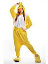 Kigurumi-pyjamas Anka Onesie-pyjamas Kostym Polär Ull Gul Cosplay För Vuxna Pyjamas med djur Tecknad serie halloween Festival / högtid