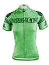 ILPALADINO Femme Manches Courtes Maillot de Cyclisme - Vert Velo Maillot, Sechage rapide, Resistant aux ultraviolets, Respirable Polyester