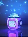 1pc väckarklocka sky projektor nattljus aa batterier drivs romantisk kreativ