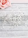 Cristal Îmbrăcăminte de păr Veșminte de cap with Floral 1 buc Nuntă Ocazie specială Casual Birou și carieră În aer liber Diadema