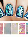 5pcs Folie Stripping Tape Andre dekorationer Nail Stamping Template Daglig Abstrakt Mode Høj kvalitet