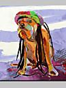 Pictat manual Abstract / Animal / Desene Animate / PopModern Un Panou Canava Hang-pictate pictură în ulei For Pagina de decorare