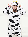 kigurumi Pyjamas Vache laitiere Costume Noir polaire Kigurumi Collant / Combinaison Cosplay Fete / Celebration Pyjamas Animale Halloween