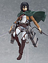 Anime Action Figures Inspired by Attack on Titan Mikasa Ackermann PVC(PolyVinyl Chloride) 14 cm CM Model Toys Doll Toy