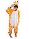 Kigurumi Pijamale Girafă Onesie Pijamale Costume Flanel Lână Portocaliu Cosplay Pentru Copil Sleepwear Pentru Animale Desen animat