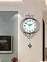 modern kreativ mode metall pendel mute vägg klocka heminredning