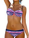 Dame Imprimeu Halter Bikini Costume de Baie Floral Albastru Roz