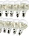 E26/E27 Bulb LED Glob B 9 led-uri SMD 5630 Decorativ Alb Cald 450lm 3000K AC 220-240V