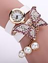 Γυναικεία κυρίες Βραχιόλι Ρολόι Diamond Watch Χαλαζίας Δέρμα Μαύρο / Λευκή / Μπλε Καθημερινό Ρολόι Αναλογικό Λουλούδι Μοντέρνα - Πράσινο Ροζ Μπλε Απαλό