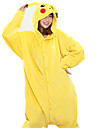 Adults\' Kigurumi Pajamas Pika Pika Animal Onesie Pajamas Coral fleece Yellow Cosplay For Men and Women Animal Sleepwear Cartoon Festival / Holiday Costumes