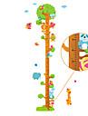 Djur Botanisk Tecknat Stilleben Mode Fritid Väggklistermärken Väggstickers Flygplan Dekrativa Väggstickers Höjdmätarstickers MaterialKan