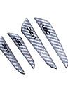 Negru Argintiu portiera fibre protector ușa laterală de protecție margine paznici autocolante pentru orice accesorii auto styling