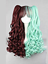 Lolita Wigs Punk Lolita Dress Color Gradient Lolita Wig 70 CM Cosplay Wigs Patchwork Wig For