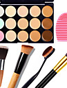 Concealer Cream Concealer / Contour Makeup Body Face Dry Wet Matte Whitening Moisture Coverage # 15 Colors Cosmetic Grooming Supplies / Shimmer