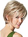 Syntetiskt hår peruker Rak Karneval peruk Halloween Paryk Naturlig peruk Korta Blond