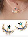 Cercei Stud La modă imitație de diamant Aliaj Star Shape Negru Albastru Auriu Bijuterii Pentru Zilnic Casual 1 pereche