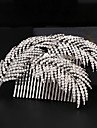 Rhinestone / Alloy Hair Combs with 1 Wedding / Special Occasion Headpiece