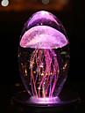 3D nattlampa Uppladdningsbar Multi-Färgad Kristall 1 Lampa Inga batterier medföljer