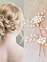 Pearl Crystal Hair Combs Hair Stick 1 Wedding Special Occasion Headpiece