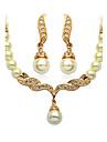 Pentru femei Seturi de bijuterii Design Basic Imitație de Perle de Mireasă costum de bijuterii Imitație de Perle Bijuterii Σκουλαρίκια
