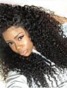 Syntetiska snörning framifrån Kinky Curly Frisyr i lager Till färgade kvinnor Afro-amerikansk peruk Naturlig hårlinje Hög kvalitet Natur