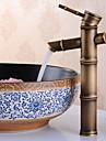 Antiek Middenset Wijdverspreid Keramische ventiel Single Handle Een Hole Antiek Brons, Wastafel kraan