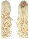 Mikrorengas-hiustenpidennykset Poninhännät Synteettiset hiukset Hiuspalanen Hiusten pidennys Kihara