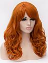 Synthetische Peruecken Wellen Minaj Stil Asymmetrischer Haarschnitt Kappenlos Peruecke Gold Orange Synthetische Haare Damen Natuerlicher Haaransatz Gold Peruecke Mittlerer Laenge / Lang