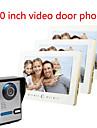 10 inch ecran mare HD 700 video de soneria de la intrare interfon pe o vila cu trei
