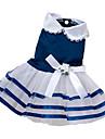 Chien Robe Vetements pour Chien Noeud papillon Rouge Bleu Rose Coton Materiel mixte Costume Pour Ete