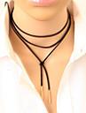 Pentru femei Coliere Choker tatuaj cravată Y în formă Piele  Aliaj Stil Tatuaj La modă Lung Personalizat Gotic Stil Punk costum de