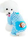 Katt Hund Jumpsuits Pyjamas Hundkläder Tecknat Gul Blå Rosa Cotton Kostym För husdjur Herr Dam Gulligt Ledigt/vardag